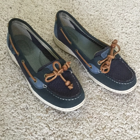 Sperry Shoes   Angelfish Blue Leather